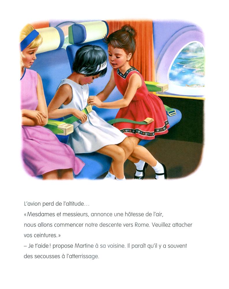 Martine - Martine en avion - Gilbert Delahaye, Marcel